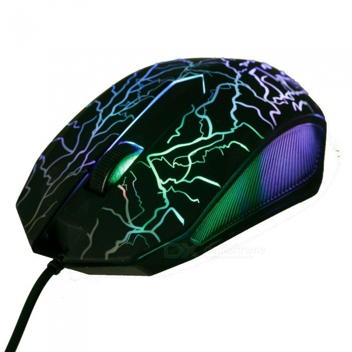 ... Beitas USB Wired Mouse 2400DPI 3 Buttons Optical Gaming Game Mouse 7 Colors LED Luminous Mouse