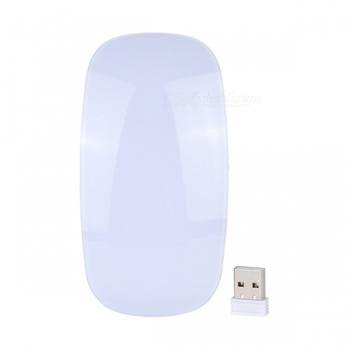 P Slim Silent Wireless Optical Touch Magic Mouse 2.4G USB Mice For Windows Computer For Apple Mac OS PC White