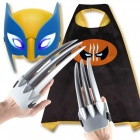 Logan3-Marvel-Superhero-Cosplay-Costume-Children-Mask-Cloak-Gloves-Toy-Halloween-Brown