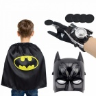 Cartoon-Children-Kids-Spiderman-Advengers-Superhero-Costume-Mask-Cloak-Gloves-Halloween-Black