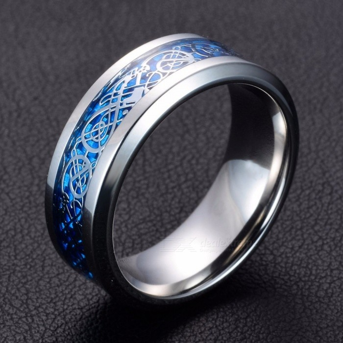 Dragon Stainless Steel Ring Band Ring For Men Comfort Fit Size 11