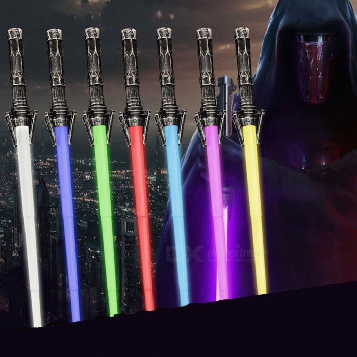 Image of Retracting Toys Two-in-one 7 Colors Laser Sword DIY New Exotic Toys White