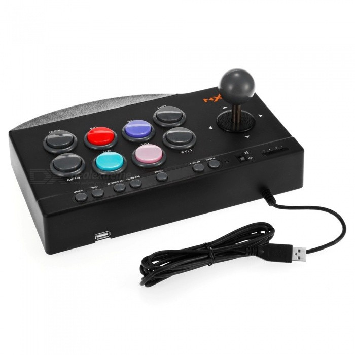 PXN PXN-0082 gamepad arcade com fio interface USB joystick controlador de jogo para PC PS3 PS4 xbox one preto