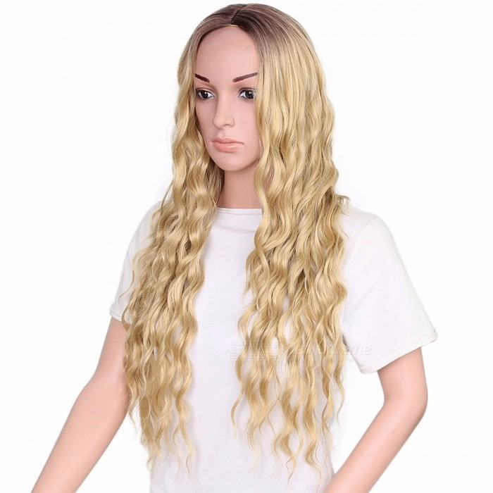 Hot-Selling-European-And-American-Style-Ladies-Braid-Hair-Wig-Set-Blonde30inches
