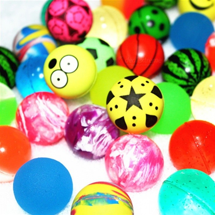 10Pcs / Lot 32MM High Bounce Ball for Kids, Party Favor Toy Balls Multicolor