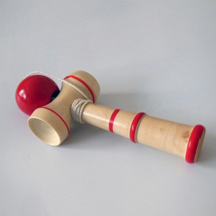 High Quality Kid Kendama Coordinate Ball Japanese Traditional Wood Game Skill Educational Toy Blue