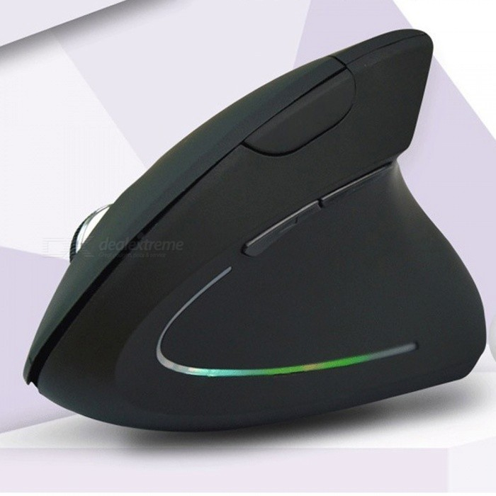 Wireless Mouse Ergonomic Vertical Optical Mouse 800/1000/1200/1600 DPI Wrist Healing Computer Mice PC Laptop Desktop Black