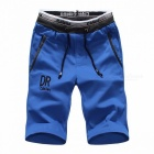 Shorts Mens Five Pants Cotton Summer Loose Casual Pants Sportswear Knee Length Sports Pants Blue/XXL