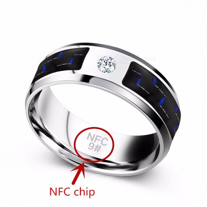 Mens NFC Smart Rings JZ114 New Technology Magic Finger Smart NFC Ring  Universal For Android Windows Mobile Phone - Silver