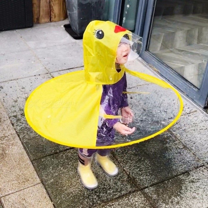 Buy Raincoat Creative UFO Kid\'s Raincoat Yellow Duck Rain Cover Waterproof Kids Childen Umbrella Cover Outdoor Play Yellow/M with Litecoins with Free Shipping on Gipsybee.com