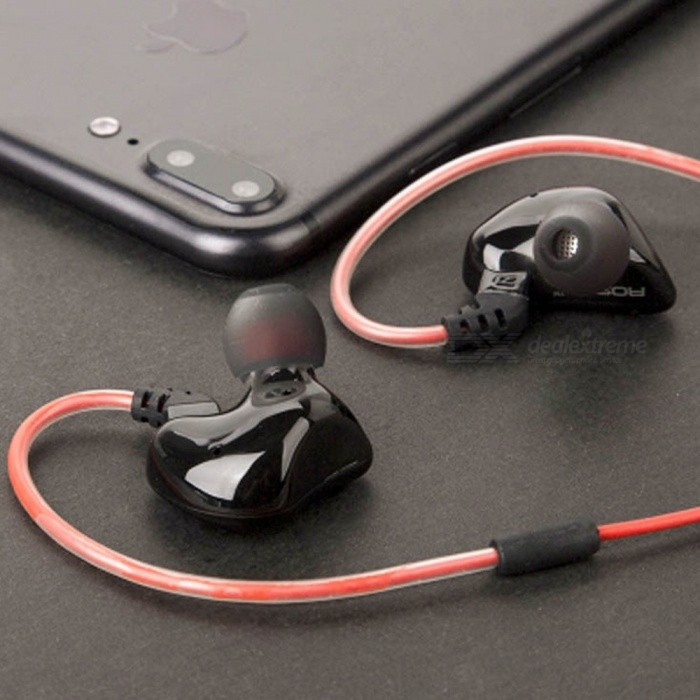 Headphones With Microphone 3.5mm Ear Phones Gaming Bass Phone Electronics Quad-core Double Ringed Earphones