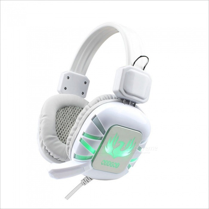 Headphone | Computer | Headset | Cable | White | Light | Wire | Game | USB | LED