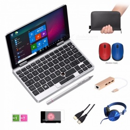 One-Netbook-One-Mix-Yoga-Pocket-Laptop-7-IPS-Touch-Screen-Windows-10-8GB-DDR3-128GB-eMMC-w-Stylus-Silver-Silver