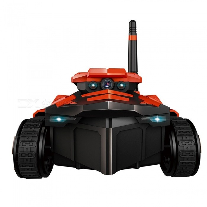 ATTOP YD-211 Wifi FPV 0 3MP HD Camera App Remote Control Spy Tank RC Toy  Phone Controlled Robot ABS Long Working Time Red