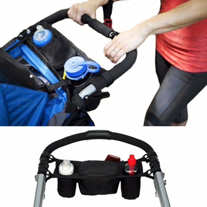 Baby Stroller Organizer Cooler And Thermal Bags For Mum, Hanging Carriage Pram Buggy Cart Bottle Bag Stroller Accessory