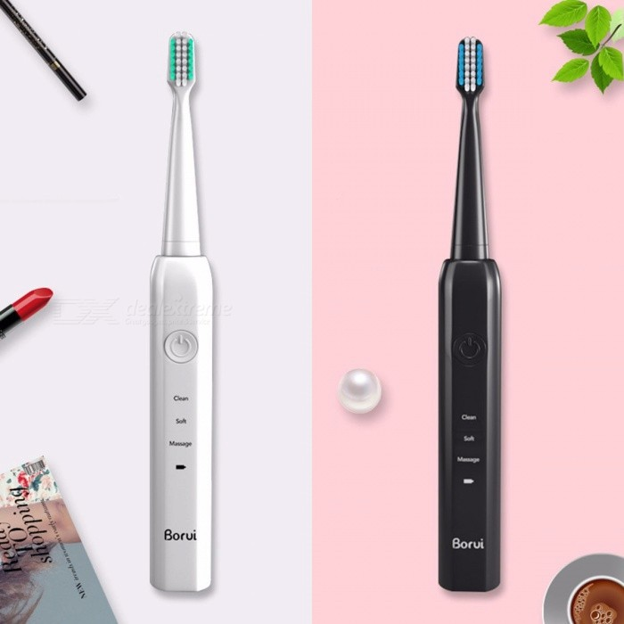 Electric-Toothbrush-Adult-Ultrasonic-Household-Rechargeable-Soft-Hair-Intelligent-Whitening-White