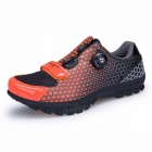 Outdoor Professional Riding Shoes Rotated Buckle Wire Fast Tie Bicycle Shoes Cycling Shoes For Man Woman Orange/6.5