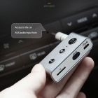 Metal Mini Car Bluetooth Receiver Audio Music Wireless Receiver Adapter For Speaker Headphone Silver