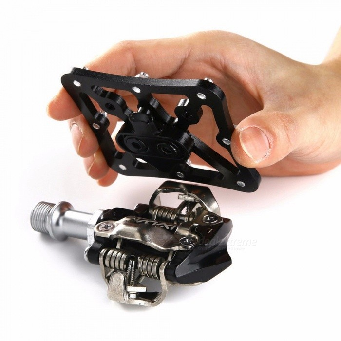 MTB Clipless Mountain Bike Pedal Lock Platform Adapters Quick Release Bicycle Pedal For SPD For SPEEDPLAY System  -small size