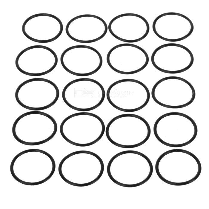 Water-tight O-Ring Seal (23mm 20-Pack)O-rings<br>Form  ColorBlackPacking List<br>