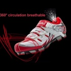 BOODUN Road Racing TPU Soles Mountain Bike Shoes Men Bicycle Cycling Sport Breathable Red/9.5