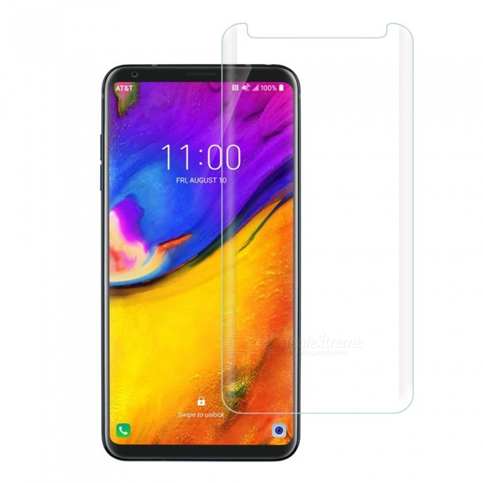 Dayspirit Full Screen Curved Tempered Glass Film Screen Protector for LG V35 ThinQ - Transparent