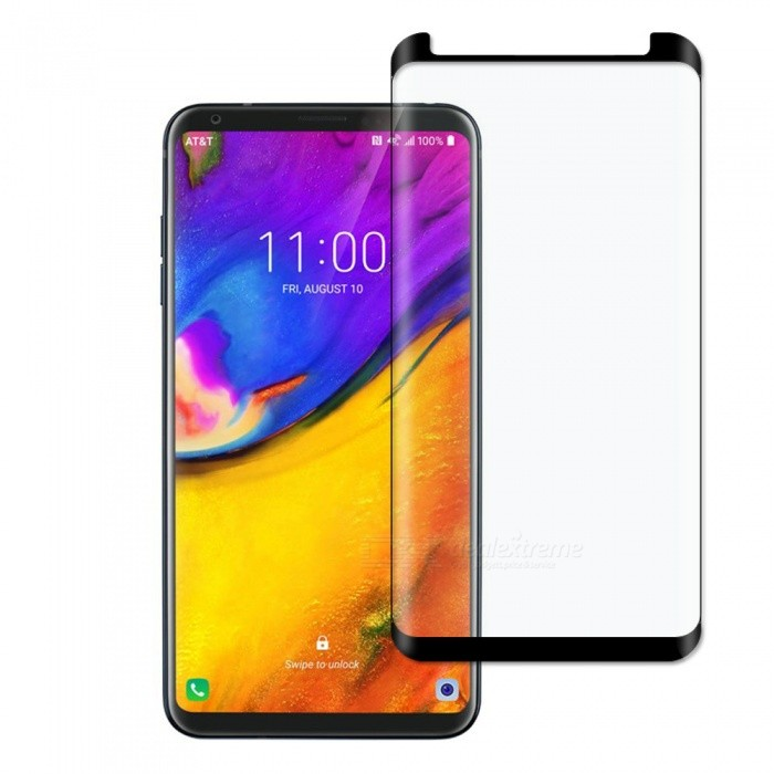 Dx coupon: Dayspirit Full Screen Curved Tempered Glass Film Screen Protector for LG V35 ThinQ - Black