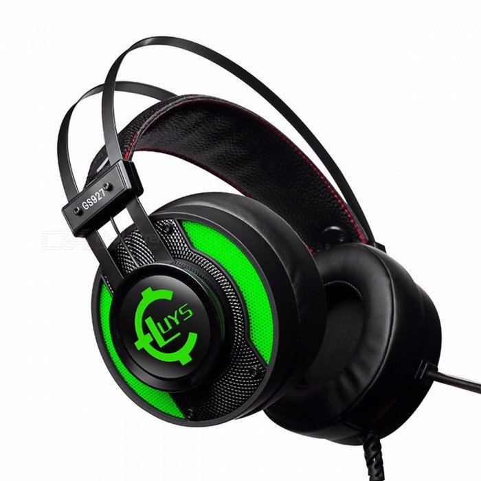 GS92-Internet-Cafe-Game-Lighting-Headset-Wired-USB-Interface-Gaming-Headset-Green