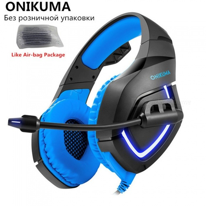 ONIKUMA K1 Wired Gaming Headphones With Microphone For Computer PC Gamer Headset Game Casque Heavy Bass Stereo Earphone Red