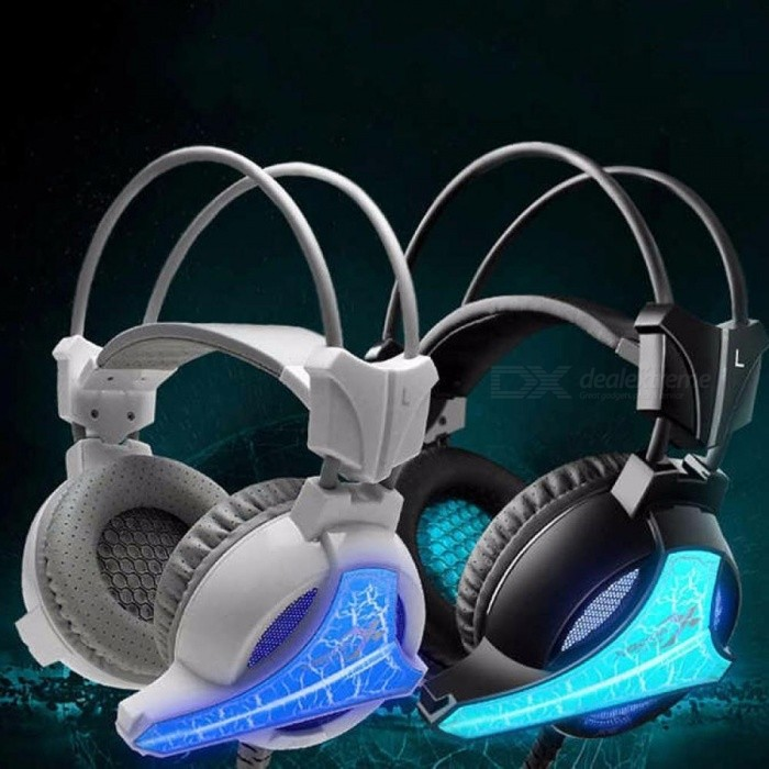 Universal-35mm-Wired-Headphone-Gaming-Headband-Headset-With-Microphone-And-LED-Light-For-Computer-White