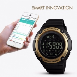 SKMEI-Mens-Smart-Watch-Sports-Digital-Resin-50-Meter-Waterproof-Health-Monitor-Pedometer-Dual-Time-Electronic-Watch