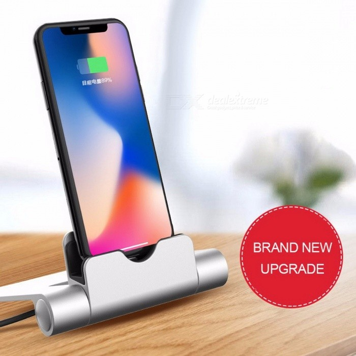 Aluminium Alloy Desktop Charging Dock For IPHONE, Mobile Phone Charging Base Holder Stand