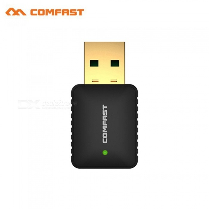 Dual Band USB WiFi Adapter 5Ghz 600Mbps USB WiFi Adapter Wireless Wifi Usb Antenna Dongle CF-915AC Laptop PC Receiver Black