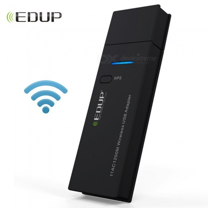 EDUP Mini USB Wifi Adapter 1200mbps 802.11ac High Speed Wifi Wireless Network Card Dual Band PC Wifi Receiver Adapter Black