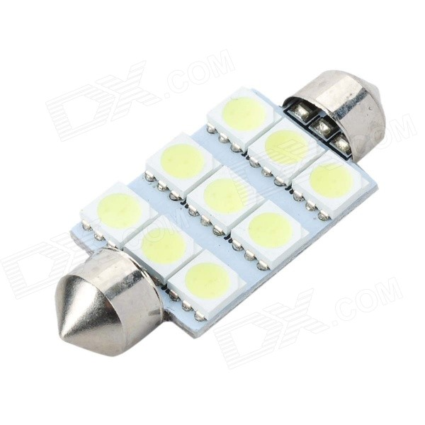 41mm 1.8W 6500K 80LM 9-SMD LED Reading Lamp/Boot Lamp White Light Bulb (DC 12~18V)