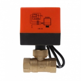 ESAMACT-Electric-Motorized-Brass-Ball-Valve-DN15-AC-220V-2-Way-3-Wire-with-Actuator-Yellow