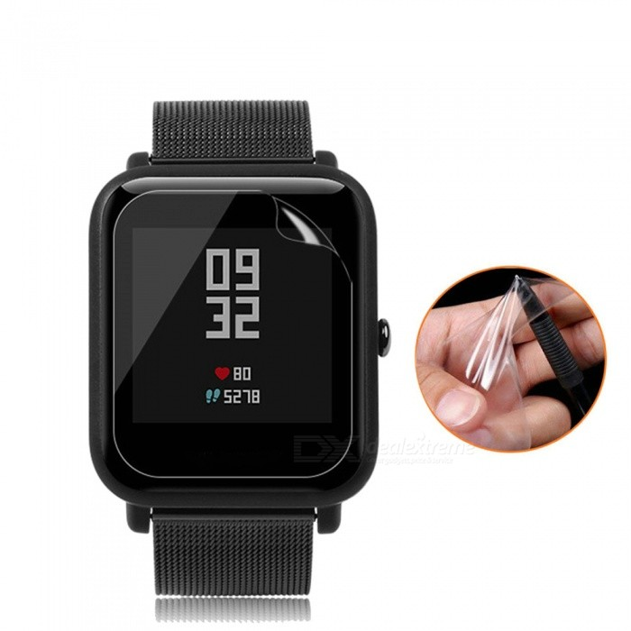 XSUNI Clear Transparent Screen Protector Film for Huami Mi Moving Watch Youth Version