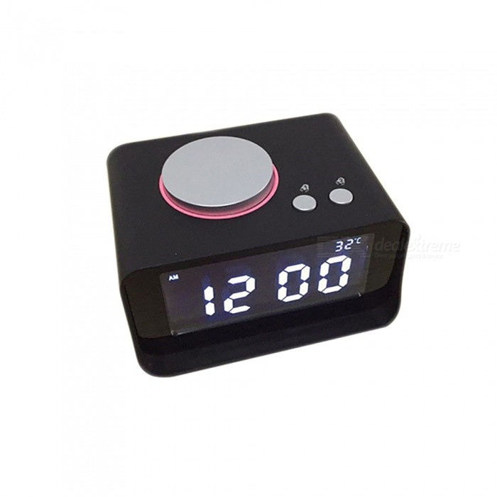 esamact music alarm clock multifunctional mini bedroom clock suports radio lcd display - Bedroom Clock