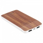 HOCO J5 New Portable Double USB Charger Wooden Mobile Phone Bank External Battery 2.1A 8000mAh Light Brown