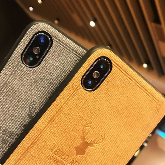 Business Leather Phone Case, Back Cover for Apple IPHONE X Dark Brown/Leather