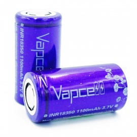 VAPCELL-INR18350-1100mAh-Lithium-Battery-Continuous-10A-37V-Rechargeable-Battery-Purple-2-PCS