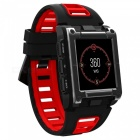 S929 GPS Swimming Sport Smart Watch IP68 Waterproof Sleep Heart Rate Monitor Thermometer Altimeter Pedometer - Red