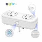 OUKITEL P1 Wi-F Mini Smart Plug Socket,Works with Alexa Echo Google Home and IFTTT - White
