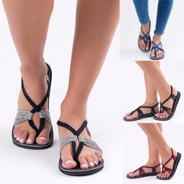 Knot-Sandals-Europe-And-The-United-States-Beach-Open-toe-Flat-Shoes-Foreign-Trade-Shoes-Toe-Rome-Female-Sandals-Black35