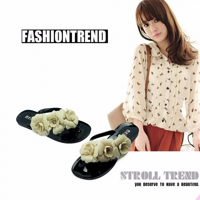 Summer-Style-Shoes-For-Women-Slippers-New-Flip-Flops-Women-Sandals-Female-Sandals-Flower-Jelly-Sandals-Beige36