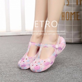 New-Candy-Color-Large-Size-Thick-Sandals-Woman-Anti-Skid-Hole-Jelly-Rose-Flower-Shoes-Flat-Garden-Beach-Shoes-Sky-Blue35
