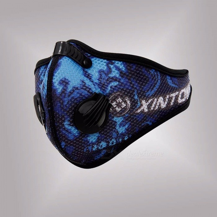 XINTOWN Outdoor Anti-dust Cycling Face Mask Anti-pollution Air Filter Breathable Bicycle Riding Hiking Face  PM2.5 One Size