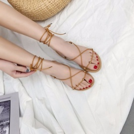 Women-Sandals-Female-Bohemian-Cross-Tied-Summer-Casual-Flats-Shoes-Casual-Sandals