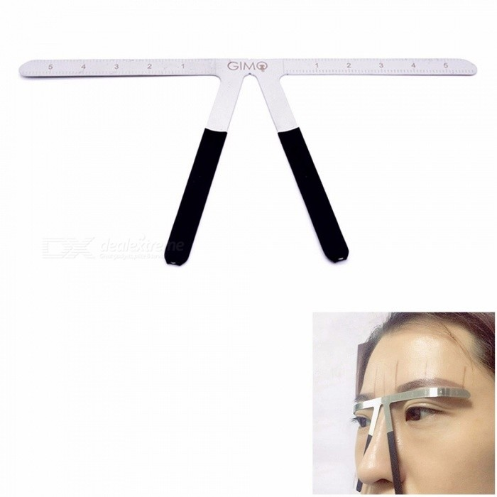 Three Point Positioning Balance Ruler Eyebrow Stainless Steel Artifact Eyebrow One Eyebrow Mold Tattoo Supplies Tools