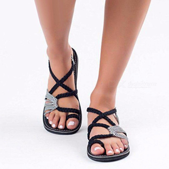Summer-Flat-Sandals-Womens-Set-Of-Toe-String-Strap-Beach-Shoes-Leisure-Roman-Sandals-Fashion-Female-Shoes-Black35